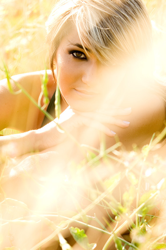 Fashion Beauty Photoshoot in long grass OC