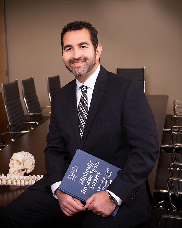 image of Surgeon with text book