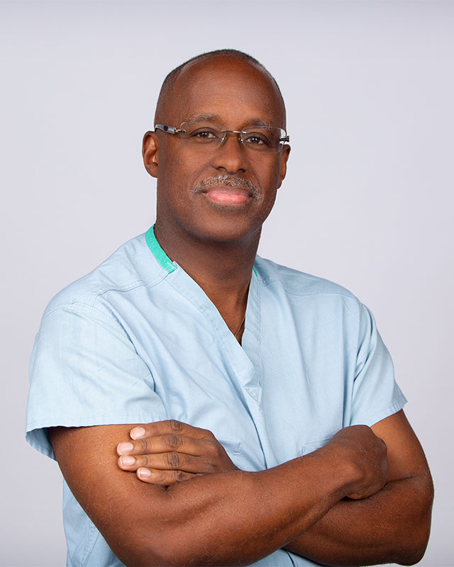 image of African American Doctor in Scrubs