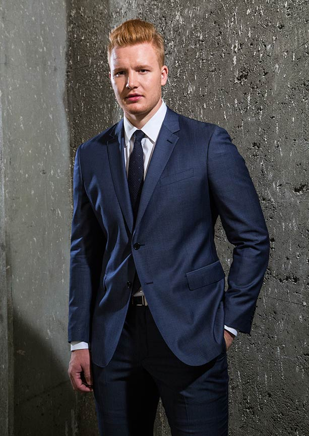 Fashion Photo of Hockey Player Freddy Anderson in a suit